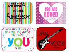 lunch boxes, printable cards, happy quotes, random acts, kind note, happi note, sweet bless, kid, lunch box notes