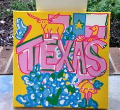 Lilly Pulitzer Texas State Patch