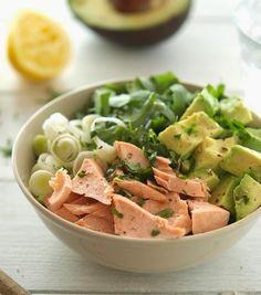 Salmon, Avocado and Arugula Salad...