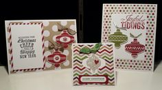 Stampin Up Christmas Collectibles Stamp a Stack card class 1. Designed by Gloria Kremer Oakville demonstrator