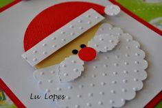 holiday card, christma card, idea ii, santa claus, punch idea