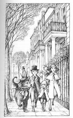 Trina Schart Hyman illustrations for Peter Pan