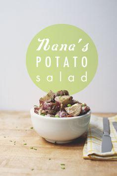 Nana's potato salad via Kitchy Kitchen