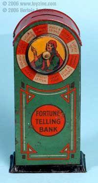 vintage tin toy bank