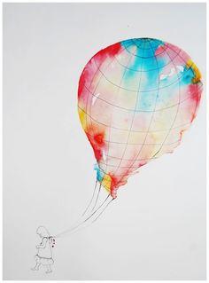 hot air balloon on Pinterest | Ink Illustrations, Watercolors and ...: www.pinterest.com/iamashleynicole/hot-air-balloon
