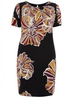 #Evans USA: Swan by Clements Ribeiro Floral Print Wisteria 21 Dress,  #curvyfashion
