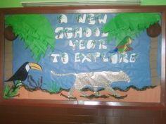 A New School Year Jungle Bulletin Board Idea