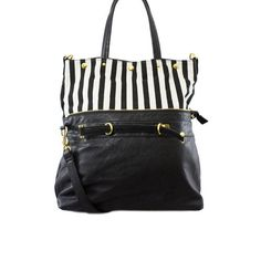 stripe foldover bag