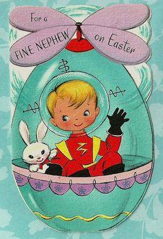 easter greet, easter vintag, easter card, butter, vintag easter, art, vintag greet, kids, cards