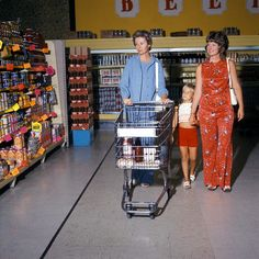 Grocery Shopping in the 70s, remember when people could smoke in the stores and they just threw their cigarette butts on the floor