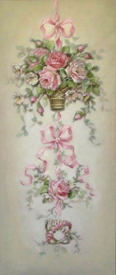 """Sweet Romance, Christie Repasy, 14"""" x 32"""" Rose, Canvas Prints, Shabby Chic, Christy Repasy, Romances Canvas, Sweets Romances, Decor Painting, Repasy Sweets, Canvas Giclee"""