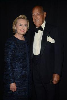 Hillary Clinton and Oscar de la Renta at the 2013 CFDA Awards