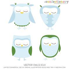 SHCO Confectionery - CU - Vectors - Vector Owls {CU} --NEW & IMPROVED-- Join at http://www.sugarhillco.com/cc