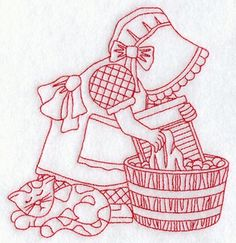 embroidery patterns, redwork