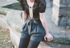 lace, shorts, and tights.