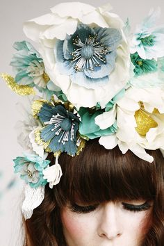 diy ideas, paper floral, floral headband, floral fashion photography, flower crowns
