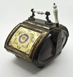 Victorian Painted and Parcel Gilt Coal Scuttle