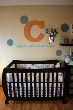 Calvin's Polka Dot Nursery on Apartment Therapy: We spy our #Storkcraft Monza II 2-in-1 Crib.