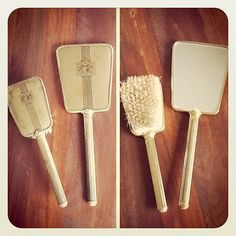 Vintage Hand Mirror and Brush Vanity Set by MatriarchVintage, $17.00