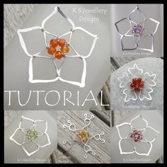 Wire Jewelry Tutorial - FIVE BEAD FLOWERS - Step by Step Wire Wrapping Wirework Instructions.