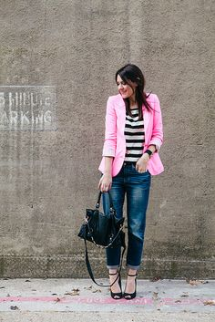 pink and black and jean