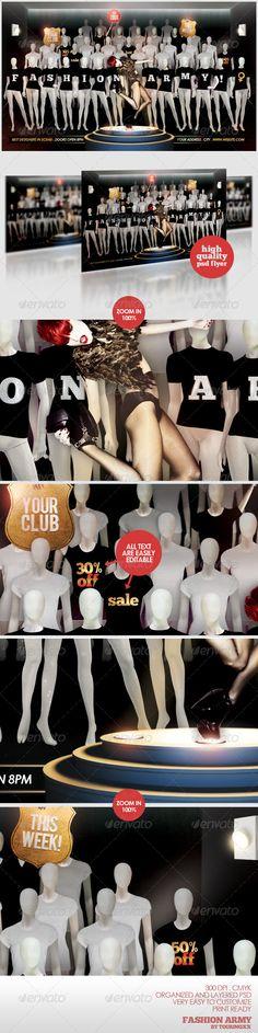 fashion flyer, flyer templat, club parti, armi flyer, print templat