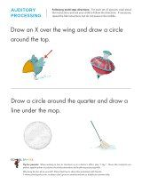 These worksheets feature two part directions.  For added difficulty, read both parts in one, fluid sentence then challenge your child to complete the worksheet correctly.  Warning - strong listening skills required! :)