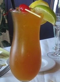 Tropical spice cocktail.Here is an exotic combination of spicy rum and fruit juices.Very delicious!!!