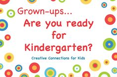 Tips for parents who are sending their child to kindergarten ~ Creative Connections for Kids