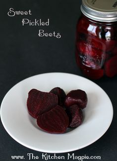 Canned Pickled Beets Recipe #canning #preserves