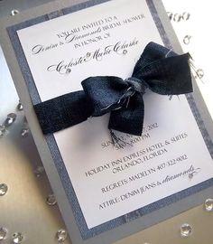Denim and diamonds  Invitation inspiration