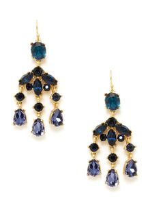 Bridesmaid earrings? Gold & Simulated Crystal Chandelier Earrings by Leslie Danzis at Gilt