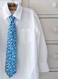 Instructions on sewing your own little guy ties!
