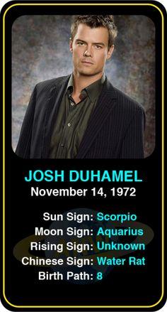 Celeb #Scorpio birthdays: Josh Duhamel's astrology info! Sign up here to see more: https://www.astroconnects.com/galleries/celeb-birthday-gallery/scorpio?start=120 #astrology #horoscope #zodiac #birthchart #natalchart #joshduhamel