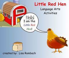 Little Red Hen Language Arts SmartBoard Lesson for Primary Grades (.notebook file)  Includes differentiated comprehension questions PDF in attachments tab. $