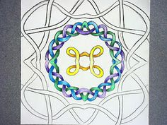 Celtic knots and radial design for elementary