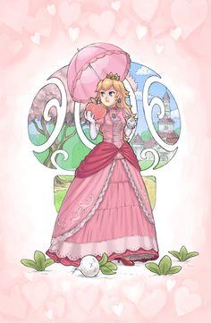Princess Peach Hot Fan Art | Fan art by slimu