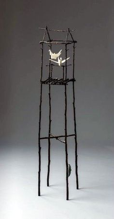 spirit house by kevin box, cast bronze, edition of 24