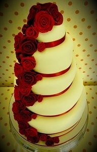 red and black wedding cakes ideas - Google Search