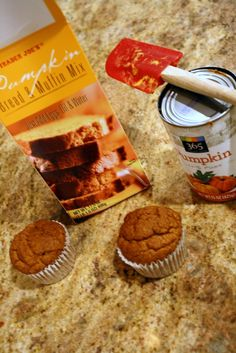 Veganize Trader Joe's Pumpkin Bread: Use pumpkin to make your muffins lighter