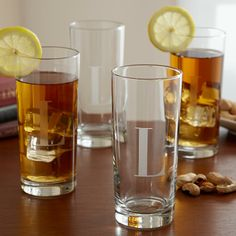 Tall Drinking Glasses - Set of 4