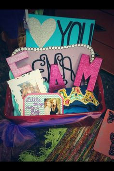 Tri delta initiation basket filled with sorority crafts gift baskets, sorority baskets, basket fill, sorority crafts, soror craft, craft basket