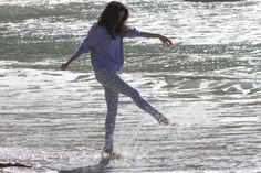 Adrianne Ho kickin' it in the Ankle Skinny in Dutch Jacquard