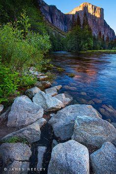 Yosemite Refections ,Merced River in Yosemite National Park.