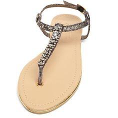 Black snake bling sandals