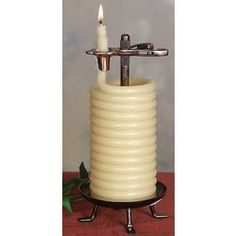 Want. Beeswax timer candle.