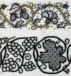 The Art of English Blackwork - EGA Seminar 1999 embroiderycrosstitch, craft, blackwork, burdado, broderi, art, bordado, english, embroideri