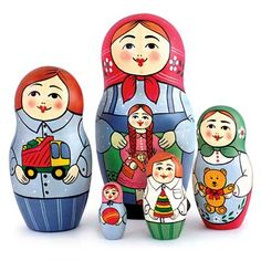 "Traditional Matryoshka ""Holiday Gifts""    FromRussia.com"