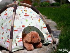 Mini Tent project- perfect for an American Girl Doll or baby doll tent!