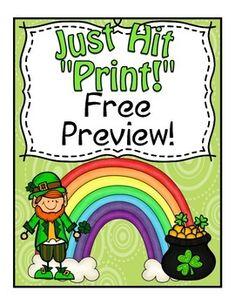 Saint Patrick's Day Preview ~ Freebie!